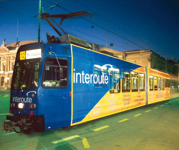 Interoute habillage du tram en 3M